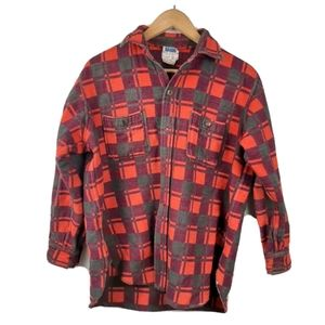 Vintage Champion Lumber Jacket Plaid Checkered Red